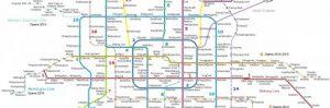Карта метро Пекин